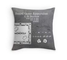 Monopoly Patent Art Board Game Apparatus Throw Pillow