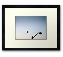If the sun goes down I shall fly to the moon Framed Print