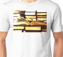 Stack of old books Unisex T-Shirt