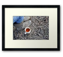 Warming Tea Framed Print