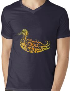 Duck pattern decoration Mens V-Neck T-Shirt