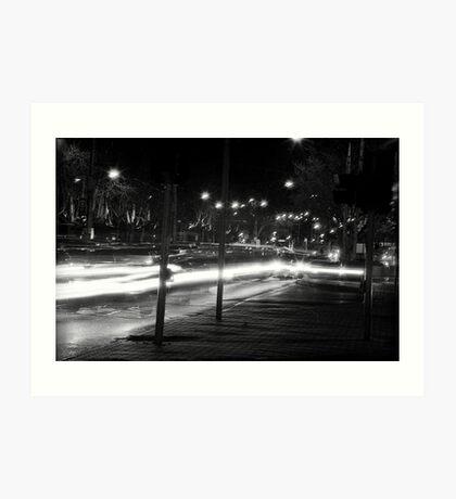 "Melbourne - ""Streetscape"" #2 Art Print"