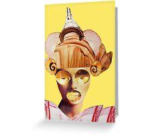 snail ears yellow Greeting Card