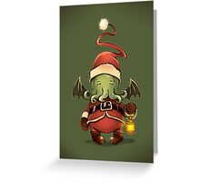 Happy Cthulhu Greeting Card