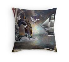 The Grey Havens farewell.. Throw Pillow