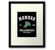 Fellowship (black tee) Framed Print