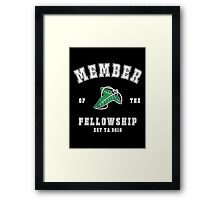 Fellowship (black tee) Framed Print