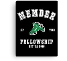 Fellowship (black tee) Canvas Print