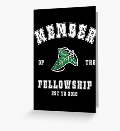 Fellowship (black tee) Greeting Card