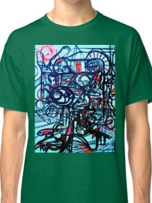 Psychedelic Cityscape Classic T-Shirt