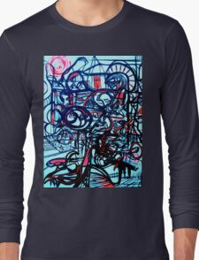 Psychedelic Cityscape Long Sleeve T-Shirt