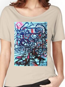 Psychedelic Cityscape Women's Relaxed Fit T-Shirt