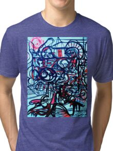 Psychedelic Cityscape Tri-blend T-Shirt