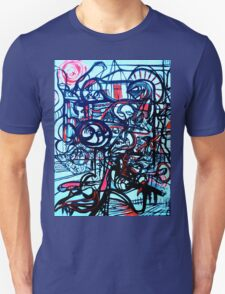 Psychedelic Cityscape Unisex T-Shirt