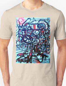 Psychedelic Cityscape Unisex T-Shirt