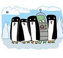 alien penguin Photographic Print