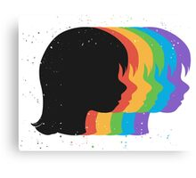 Emotions Face Canvas Print