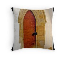 Doorway, Norwich Cathedral Throw Pillow