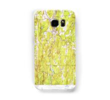 Massachusetts  USGS Historical Topo Map MA Monson 350304 1953 24000 Samsung Galaxy Case/Skin