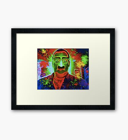 Magic Gag Glasses, Nose and Mustache Framed Print