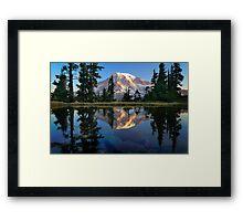 Rainier Reflected Framed Print