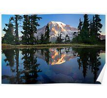 Rainier Reflected Poster