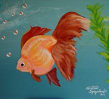 Bodacious Ryukin Goldfish by TranquilArt