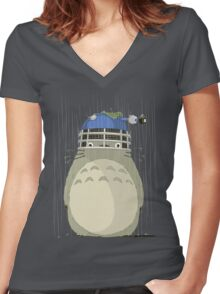 Totolek Women's Fitted V-Neck T-Shirt