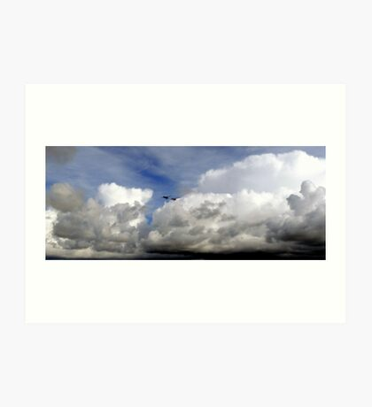 Sitting on a Cloud Watching the Action Art Print