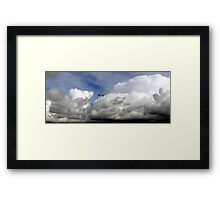 Sitting on a Cloud Watching the Action Framed Print