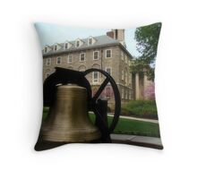 The Bell at Old Main Throw Pillow