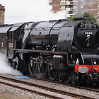Steam Train 6233 Duchess of Sutherland in Wakefield (Kirkgate) Station by keighley