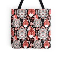 beautiful pattern  portraits of tigers and foxes Tote Bag