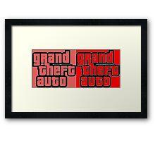 gta psicodelico Framed Print