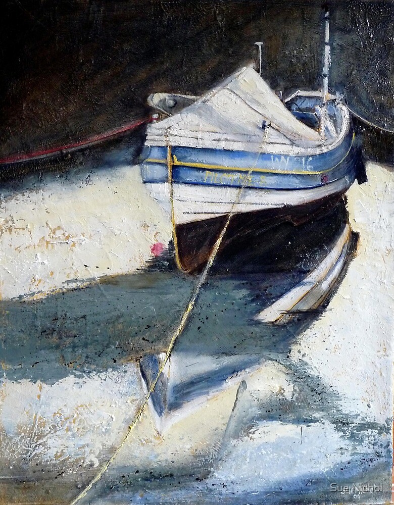 Coble, in Staithes by Sue Nichol