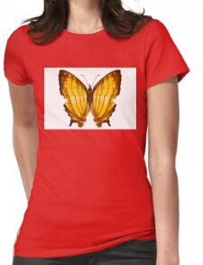 "Butterfly species Cyrestis lutea ""Orange Straight-line"" Womens Fitted T-Shirt"