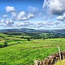 Beautiful Clouds Over The Trough Of Bowland, Lancashire. by Sandra Cockayne