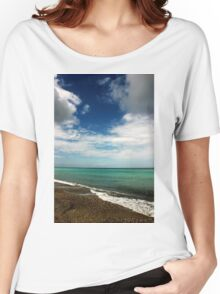 Blue and Green Sea View Women's Relaxed Fit T-Shirt