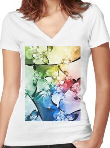 Hiver de Neige Women's Fitted V-Neck T-Shirt