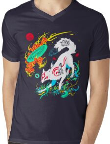 Kami of the Rising Sun  Mens V-Neck T-Shirt