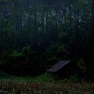 Meece Mill Barn in the rain by DHParsons