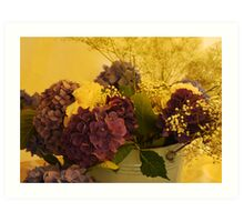 A golden glow Art Print