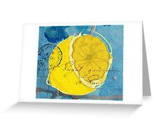 Lemon Mixed Media Digital Art Greeting Card