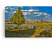 Evening at Blanchard Lake Canvas Print