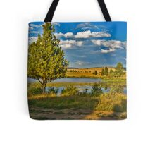 Evening at Blanchard Lake Tote Bag