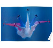 The Red Arrows Perform at Airbourne 2010 Poster