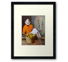 Manuel the Fruit Vendor Resting Framed Print
