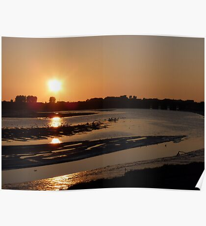 Golden Sunset, River Clwyd Poster