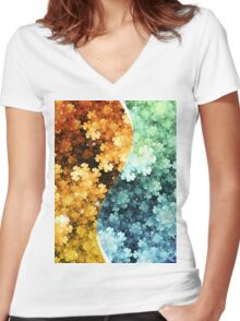 The Path to Self-Improvement Women's Fitted V-Neck T-Shirt