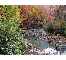 Autumn On Greesy Creek,  Combs  NW Arkansas Photographic Print